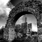 Wheal Peevor Mine Redruth Cornwall B&W - Cornish mine  by Simon Marsden