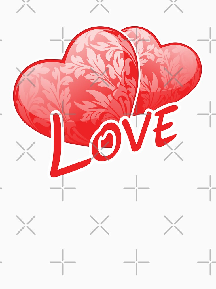 Love Graphic with Two Floral Candy Hearts by -WaD-