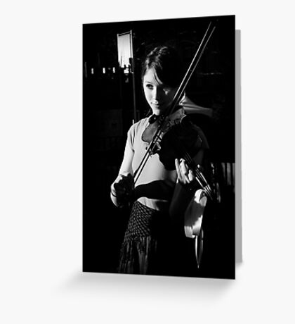 The Violinist II  Greeting Card