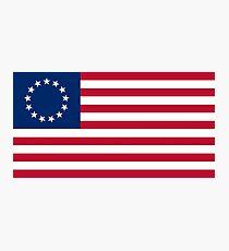 Betsy Ross 13 Sterne in einem Kreis Amerikanische Flagge Fotodruck