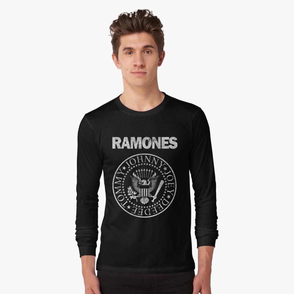 XL MENS OFFICIAL RAMONES PUNK ROCK HEY HO GRAPHIC T-SHIRT CHARCOAL GREY SZ S