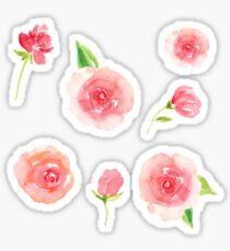 Pretty Pink Roses Sticker Set Pack Sticker