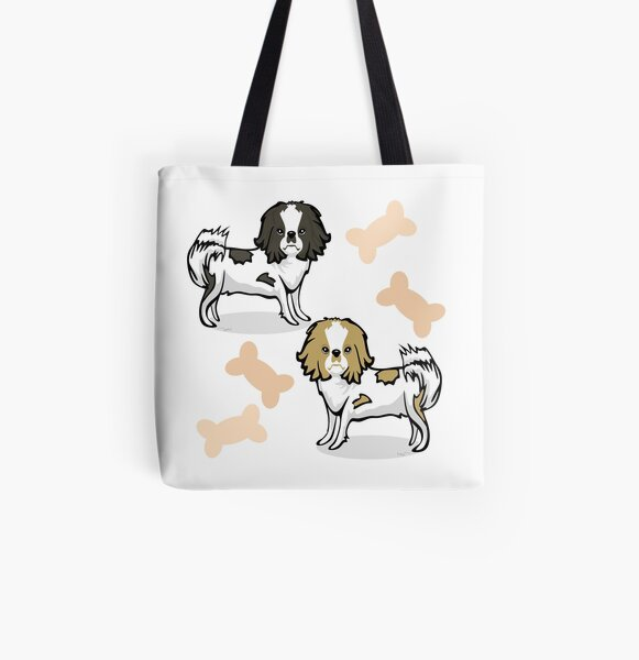 Japanese Chin Dogs All Over Print Tote Bag