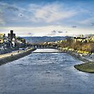 Kamogawa (the river of ducks) at the sunset by Christophe Mespoulede