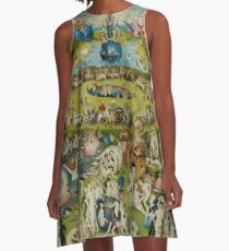 Der Garten der Lüste von Hieronymus Bosch (1480-1505) A-Linien Kleid