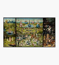 Der Garten der Lüste von Hieronymus Bosch (1480-1505) Fotodruck