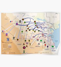 Operation Desert Storm Ground Map (24.-28. April 1991) Poster