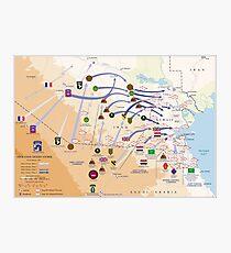 Operation Desert Storm Ground Map (24.-28. April 1991) Fotodruck