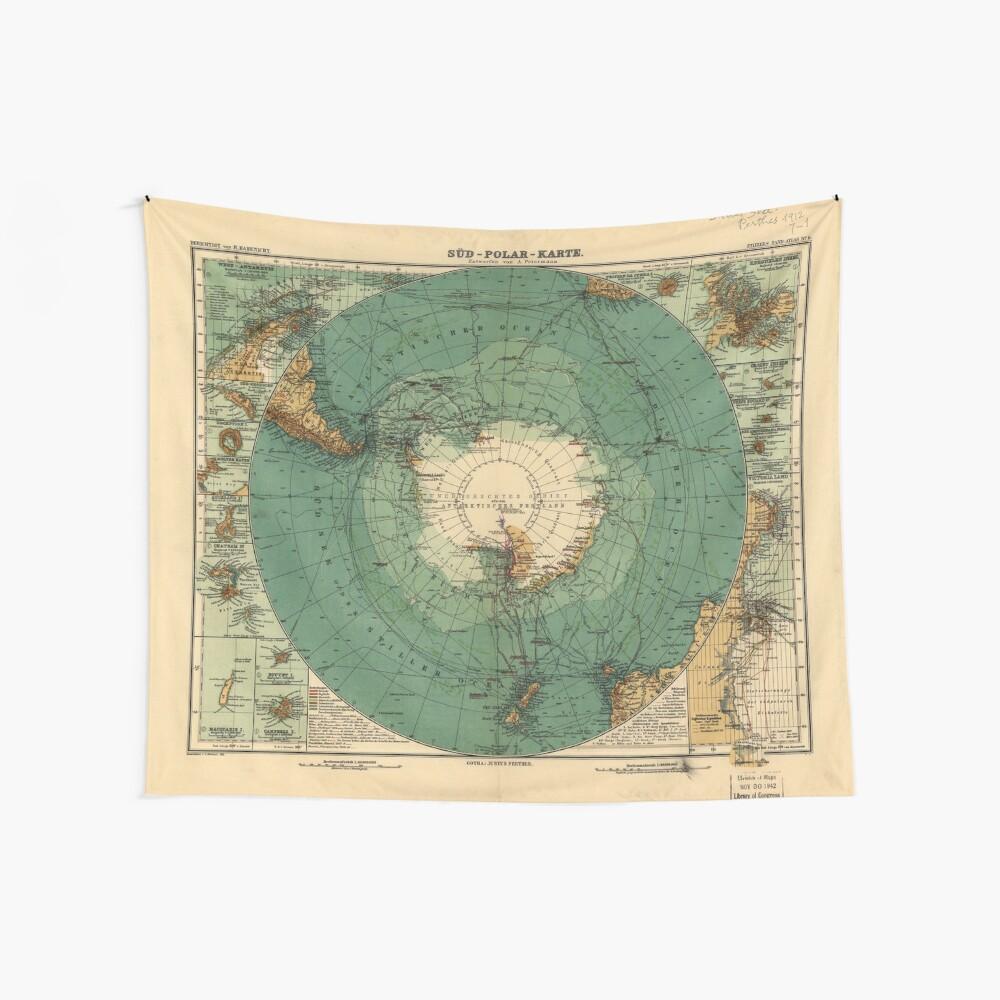 Karte der Antarktis von 1912 (Süd-Polar-Karte) Wandbehang