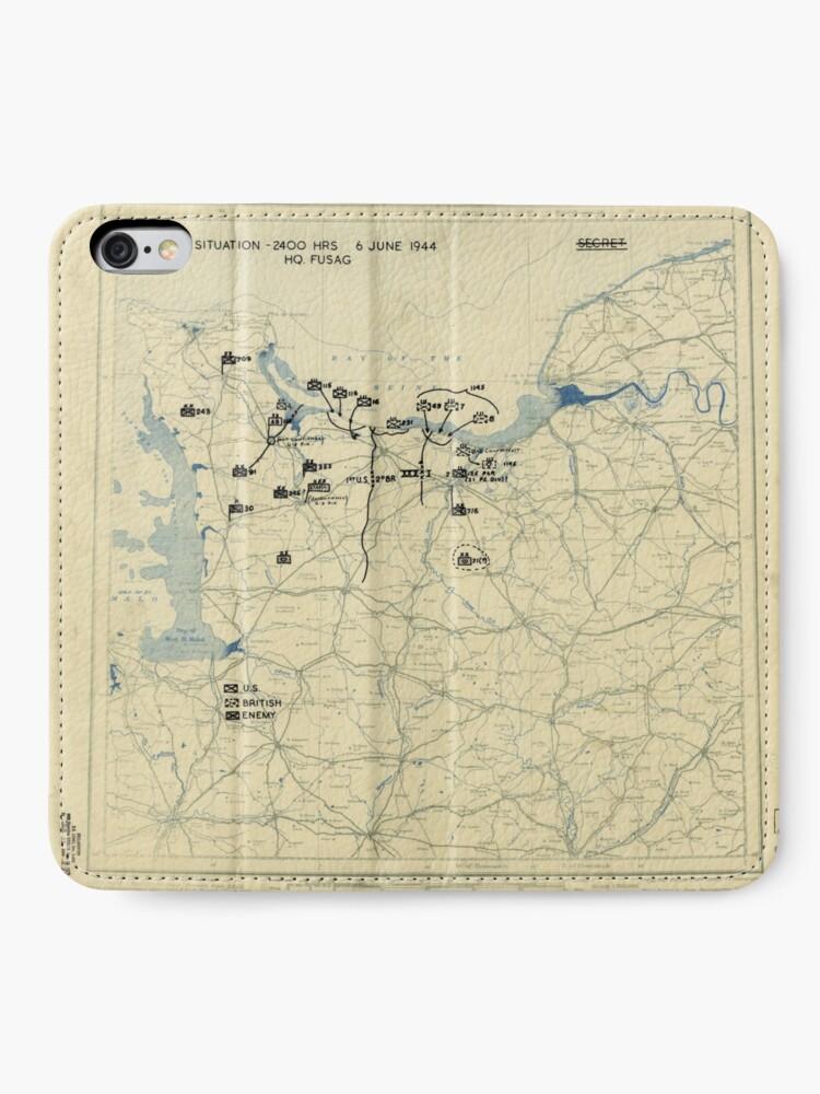 Alternative Ansicht von 6. Juni 1944 D-Day Zweiter Weltkrieg iPhone Flip-Case