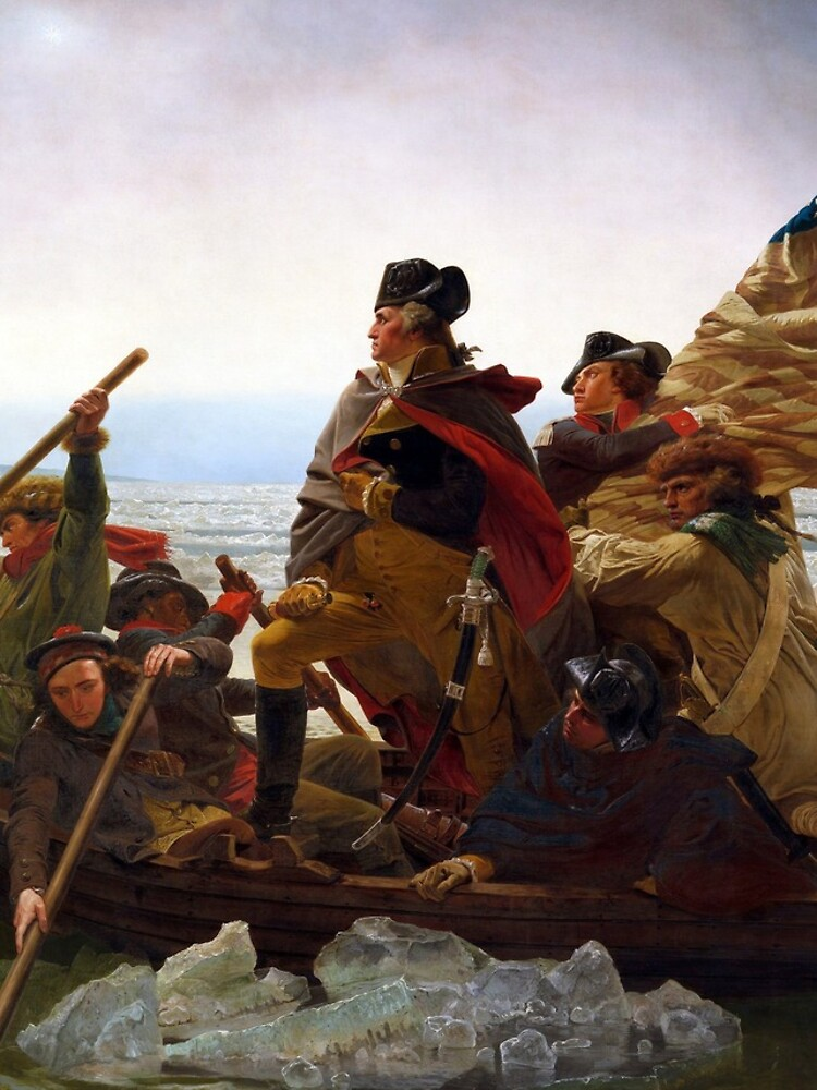 Washington Crossing the Delaware by Emanuel Leutze (1851) by allhistory