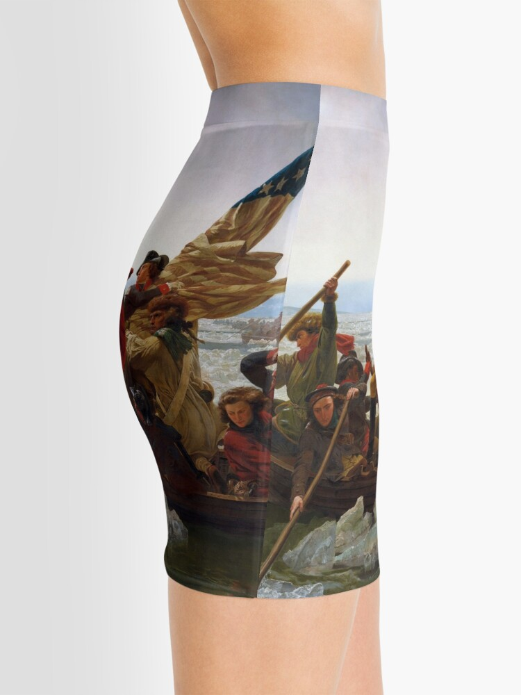 Alternate view of Washington Crossing the Delaware by Emanuel Leutze (1851) Mini Skirt