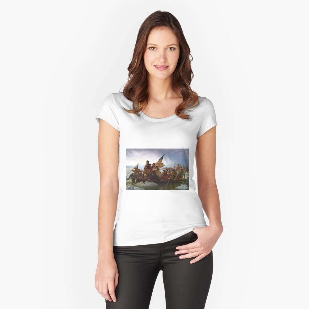 Washington Crossing the Delaware by Emanuel Leutze (1851) Fitted Scoop T-Shirt
