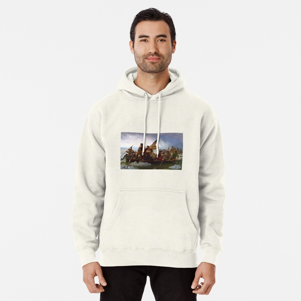 Washington Crossing the Delaware by Emanuel Leutze (1851) Pullover Hoodie