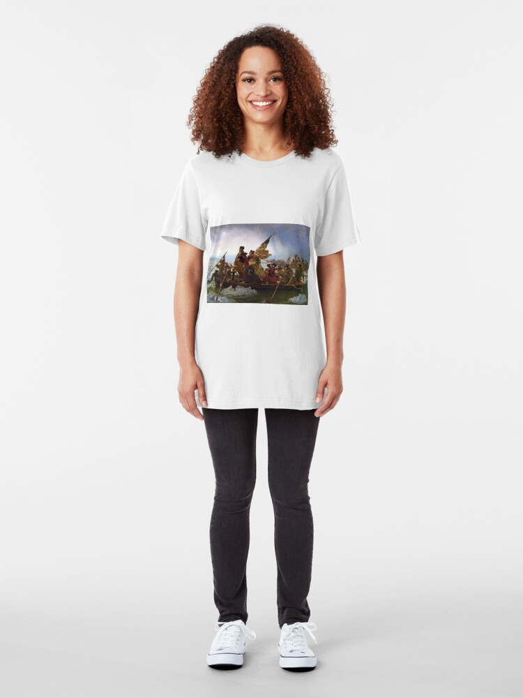 Alternate view of Washington Crossing the Delaware by Emanuel Leutze (1851) Slim Fit T-Shirt