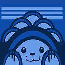 Blue Bear Geometric by elledeegee