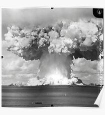 Baker-Test Atomexplosion Operation Crossroads (25. Juli 1946) Poster