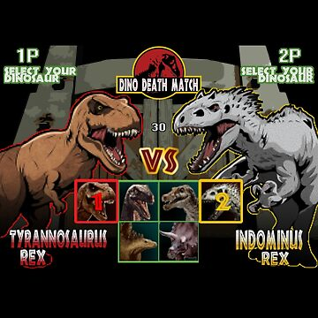 Dino Death Match by amodesigns