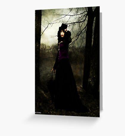 a vampires walk  Greeting Card