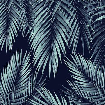 Palm Leaf Jungle Night Vibes #1 #tropical #decor #art  by anitabellajantz