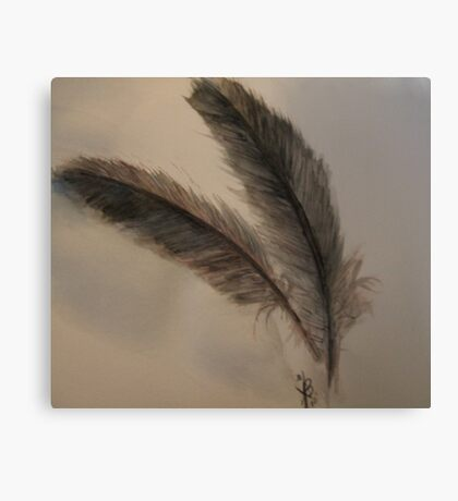 Talking Feathers Canvas Print