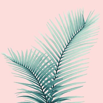 Intertwined - Palm Leaves in Love #2 #tropical #decor #art  by anitabellajantz