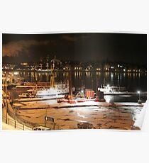 Night harbor (Stockholm, Sweden) Poster