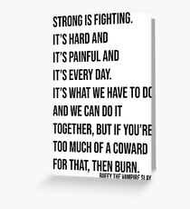 Buffy - Strong is Fighting Greeting Card