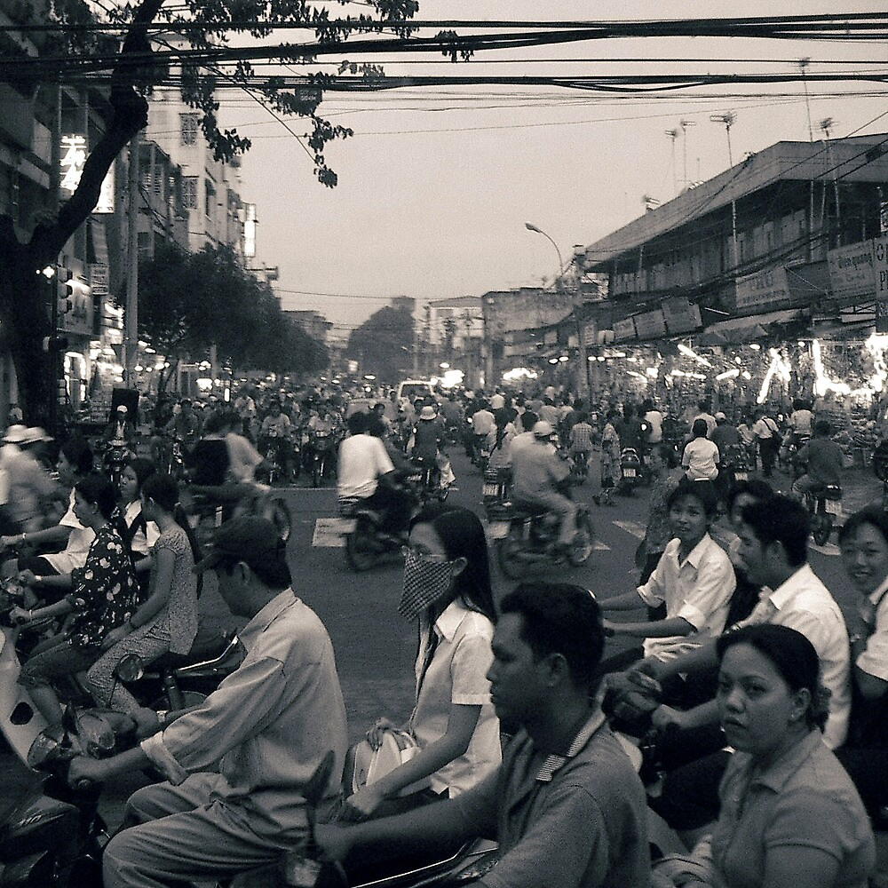 Traffic, Saigon, Vietnam.   by Paul Holland