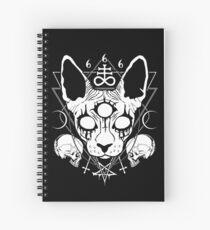 Very satanic black metal sphynx cat Spiral Notebook