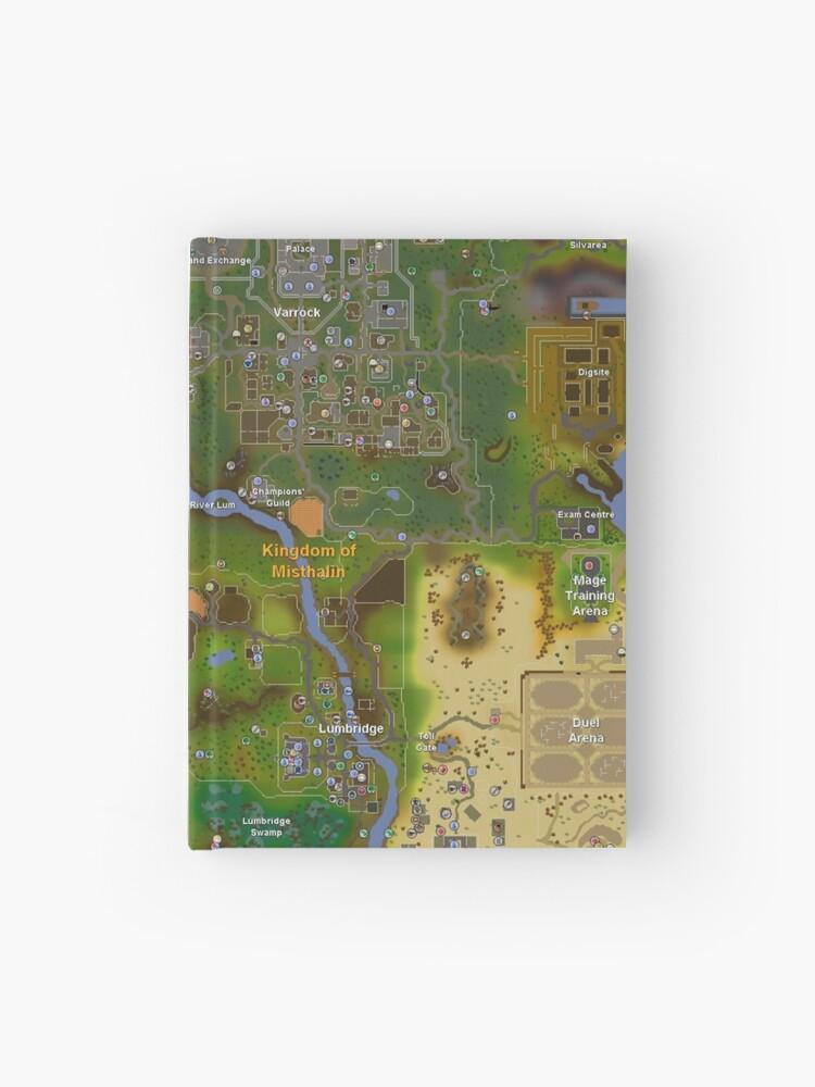 Runescape World Map | Hardcover Journal