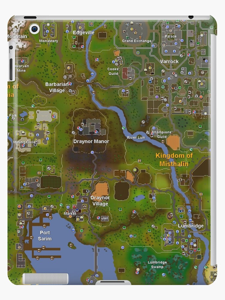 \'Runescape World Map\' iPad Case/Skin by Spider-Mayne