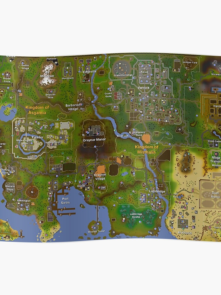 Runescape World Map | Poster