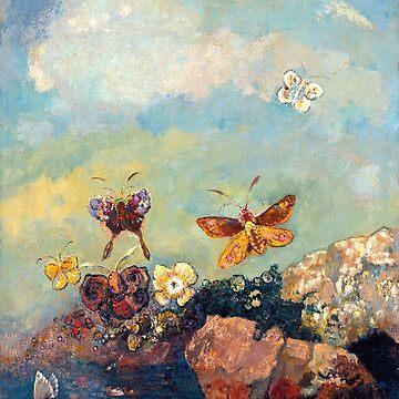 Butterflies, Odilon Redon by fourretout