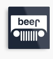 speed bump ahead,dont spill your beer! Metal Print