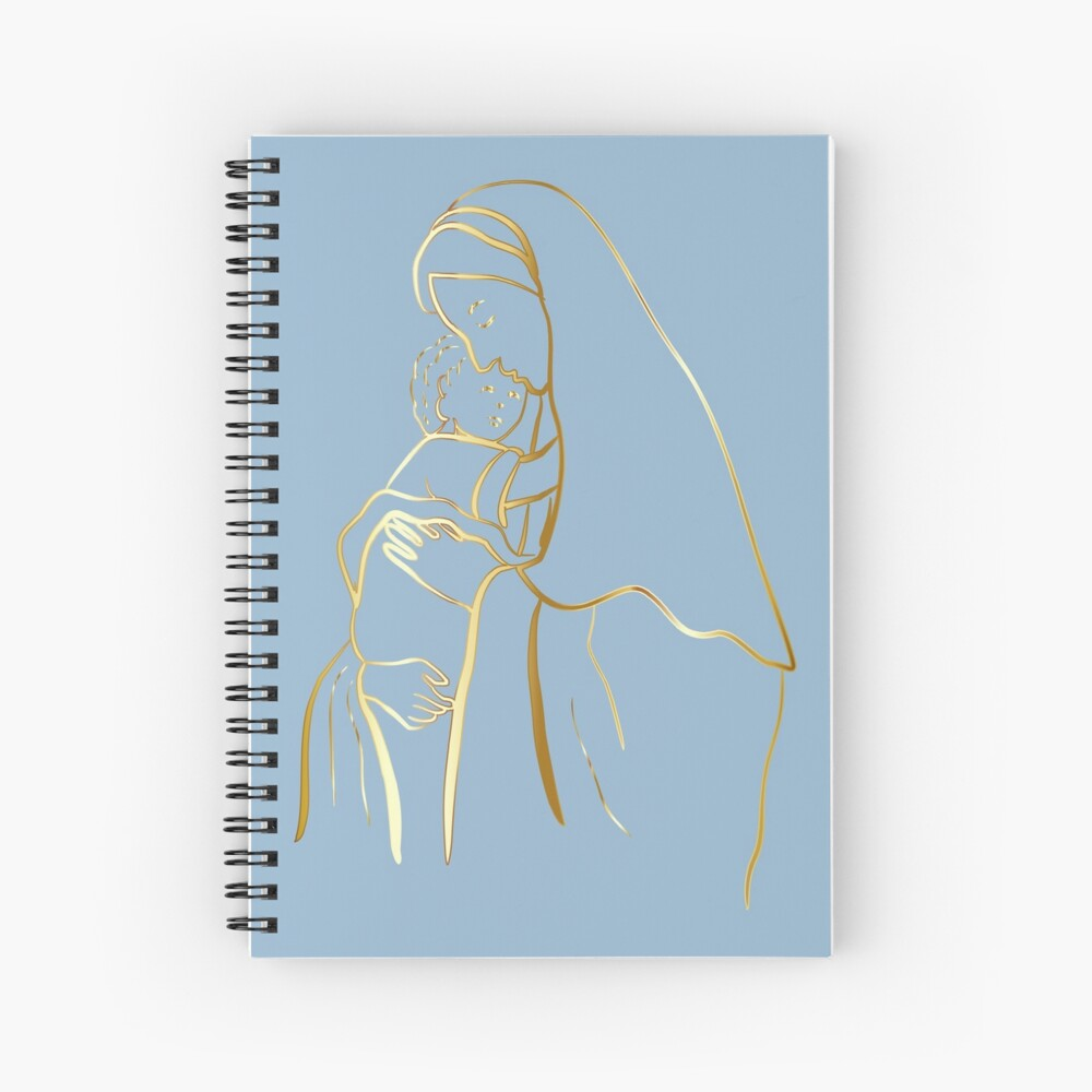 Mater Dei by TRADCATFEM Spiral Notebook