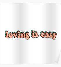 Póster amar es fácil el condado de rex orange