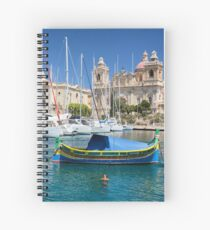 Malta: Traditional Boat Spiral Notebook