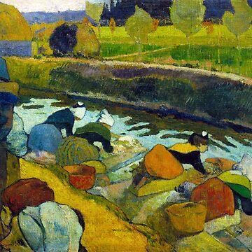 Washerwomen, Paul Gauguin by fourretout