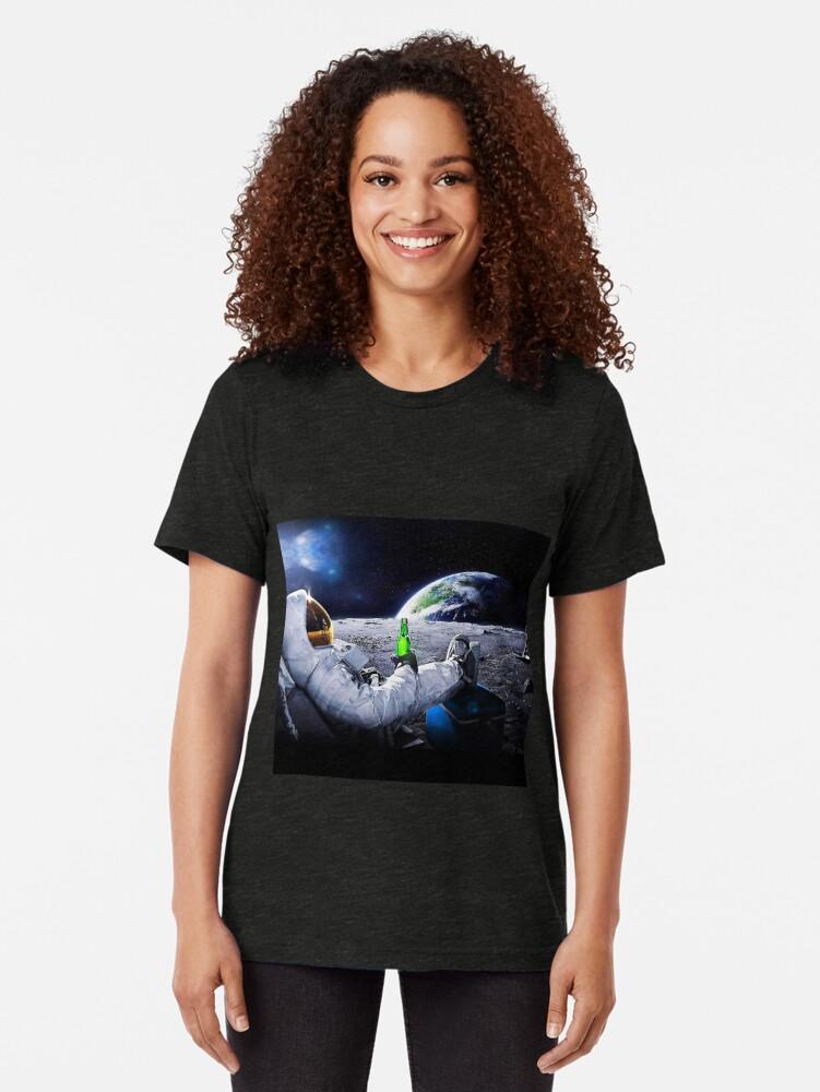 Vista alternativa de Camiseta de tejido mixto borracho en el espacio