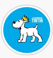 Pegatina Snowy - PERRO DE TINTIN (Azul)