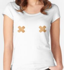 Plastered Women's Fitted Scoop T-Shirt