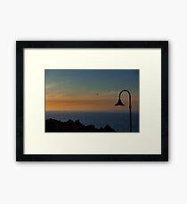 Atlantic Dusk Lamplight Framed Print