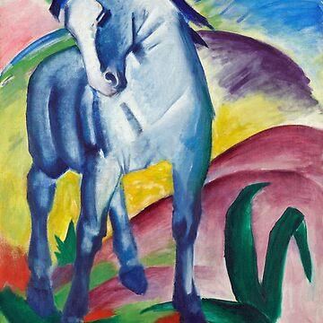 Blue Horse, Franz Marc by fourretout