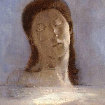 Closed Eyes, Odilon Redon by fourretout