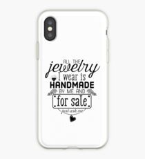 Artisan jewelry advertisement iPhone Case