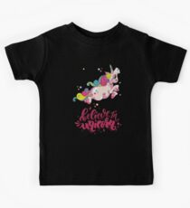 Believe in Unicorns T-Shirt Perfect Gift For Women Kids Men Kids Tee