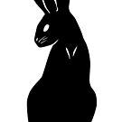 Classy Black Rabbit Silhouette by Brandy Sinclair