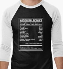 Mass Effect - Shepard Stats Men's Baseball ¾ T-Shirt