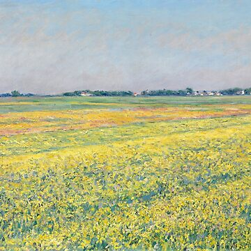 The plain of Gennevilliers, yellow fields, Gustave Caillebotte by fourretout
